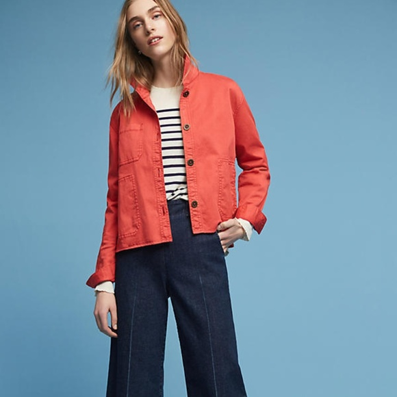 7b87abd0d953 Anthropologie Chino Swing Jacket NWT new size SP petite small red PS Women's  Clothing